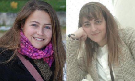 Nuestras compañeras Alicia Tocino y Laura Triviño